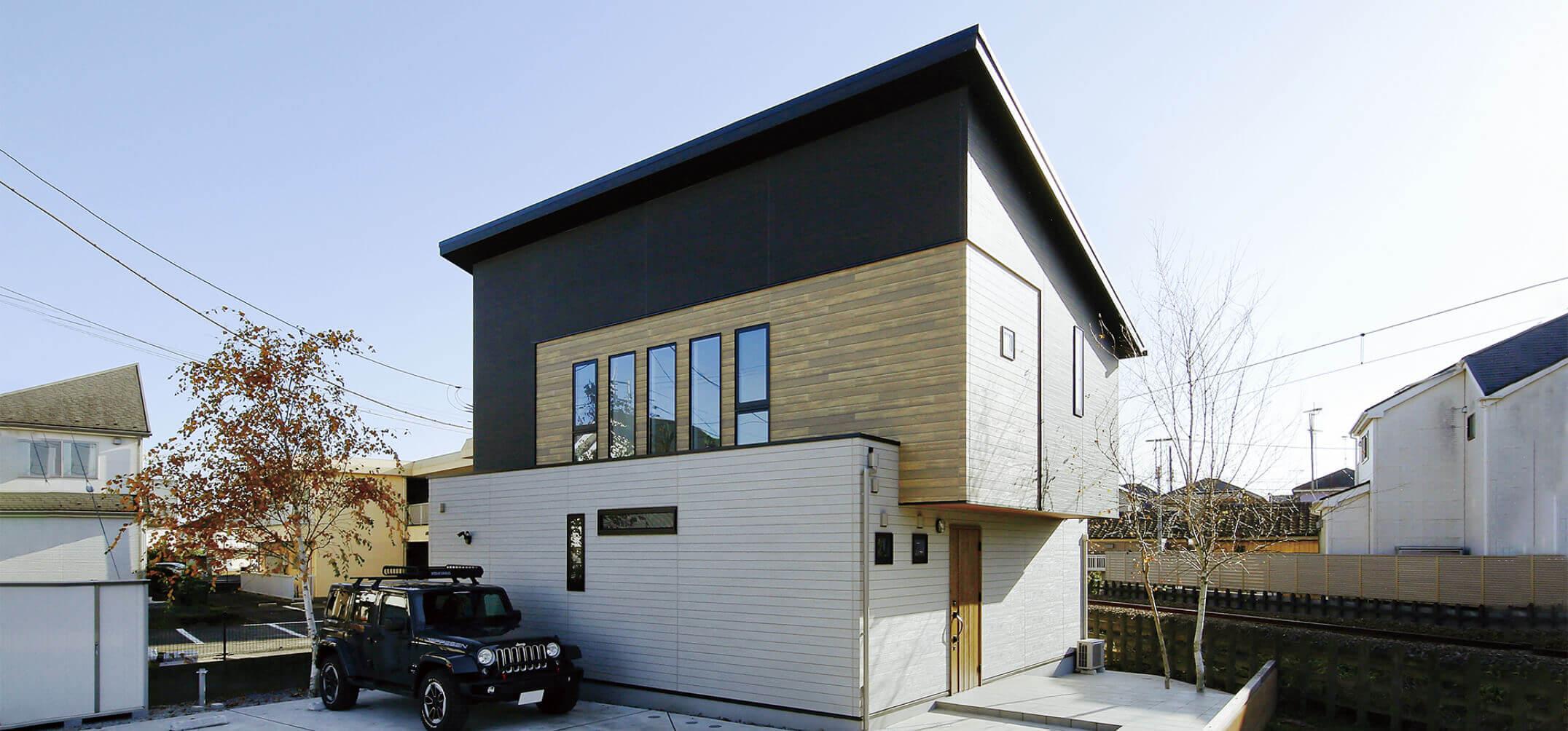 アキュラホーム東京中央で建てたスタイリッシュな家の外観