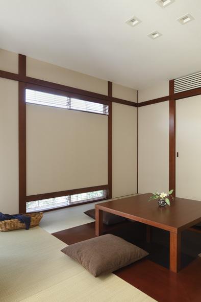 ゆったりくつろげる掘りごたつは、日本がつちかってきた「ふるまいのこころ」を大切にした空間です。
